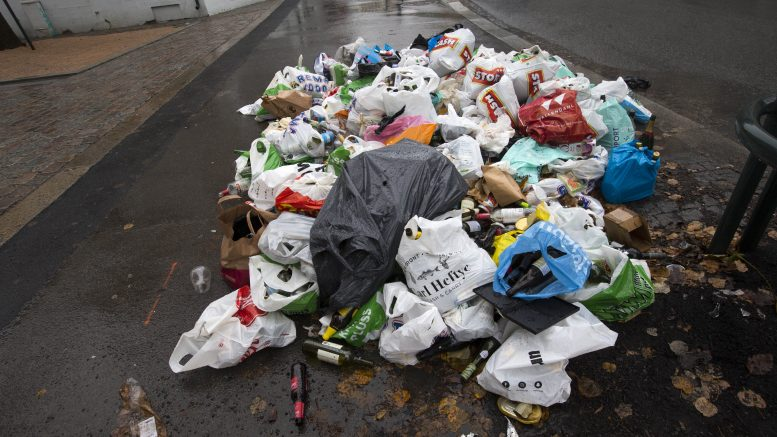 garbage chaos in Oslo