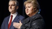 Prime Minister Erna Solberg and leader of the Labour Party, Jonas Gahr Støre