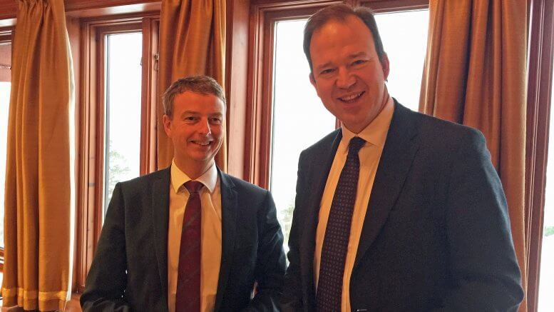 Norwegian Minister of Petroleum and Energy, Mr. Terje Søviknes and Parliamentary Under Secretary of State, Minister for Industry and Energy, Mr. Jesse Norman.