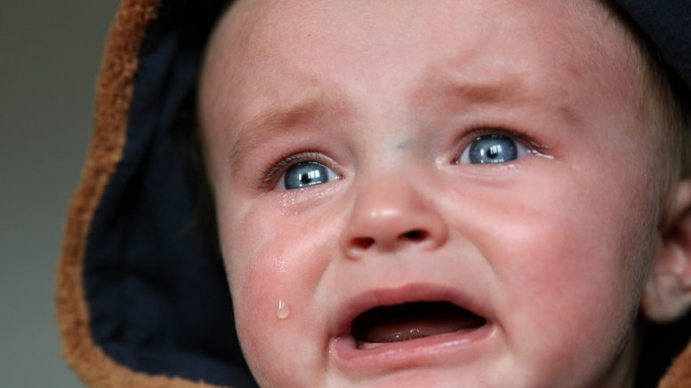 Baby Gastrointestinal infections cry sick