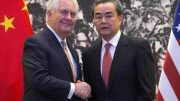 U.S. Secretary of State Rex Tillerson, and Chinese Foreign Minister Wang Yi