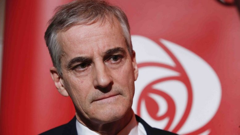 Party leader Jonas Gahr Støre, Labor Party