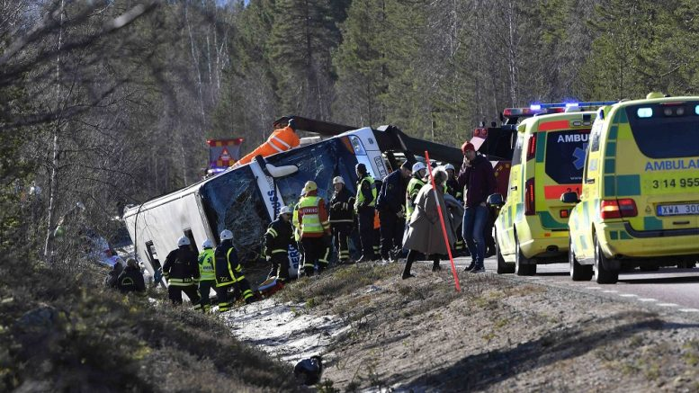 Bus accident in Sweden