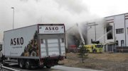 The fire in the Asko storehouse