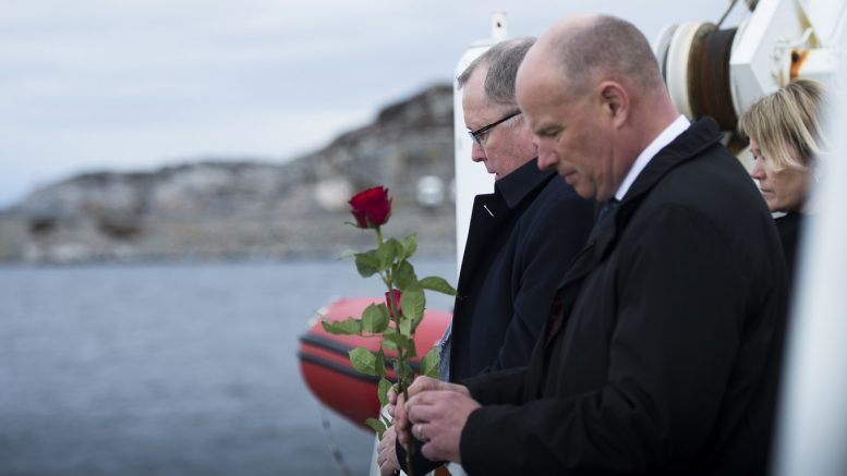 Statoil's chief executive officer Eldar Sætre (t.v.) and chief of the Norwegian Continental Shelf, Arne Sigve Nylund