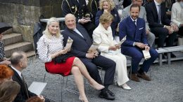 King Harald, Queen Sonja, Crown Prince Haakon and Crown Princess Mette Marit, Oscarshall