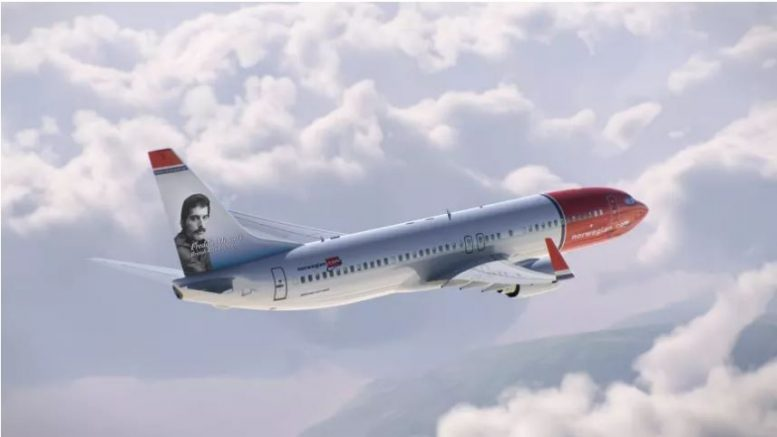 Freddie Mercury Norwegian Air Shuttle