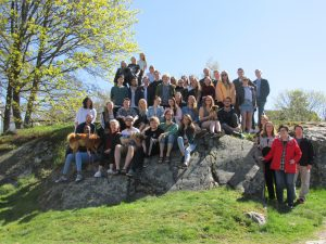 Staff and students enjoying a lovely day in Moss. Photo: ACN
