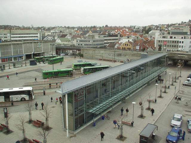 Ruten, The bus and Train station in Sandnes