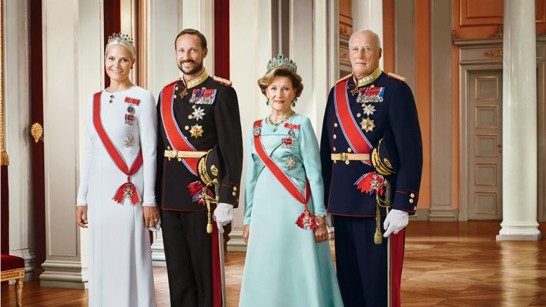 The Royal family. Royal Court Queen Sonja 80 years old