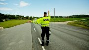 Police at work speeding