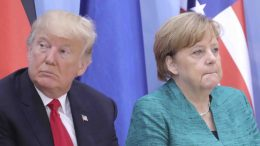 US President Donald Trump and German Chancellor Angela Merkel