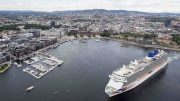 Cruise ship MS Britannia , Aker Brygge , Oslo environment