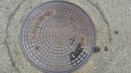 Manhole cover manhole covers Skien removed police