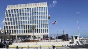 The U.S. embassy in Havana, Cuba