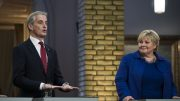 The party leaders Erna Solberg (H) and Jonas Gahr Støre (AP)