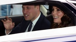 Britain's Prince William and Kate