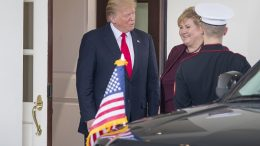 Prime Minister Erna Solberg and US President Donald Trump