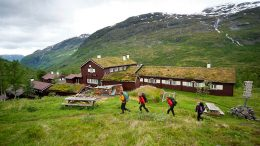 DNT Cabin hiking trekking mountains summer