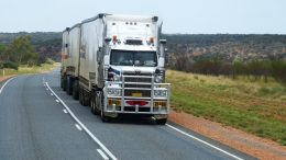 Semi-trailer EU drivers transport freight
