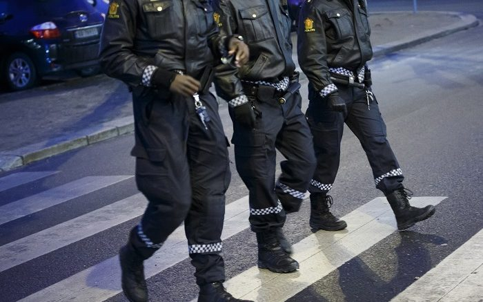 Police at work.