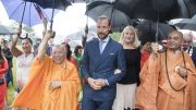 Crown Prince Haakon and Crown Princess Mette-Marit at Jessheim