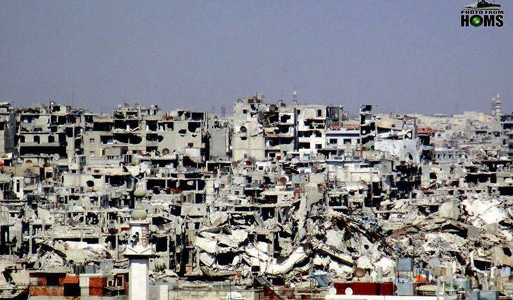 Syria Homs bombing refugee