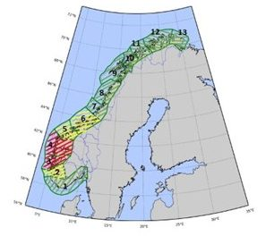 Salmon Areas in Norway