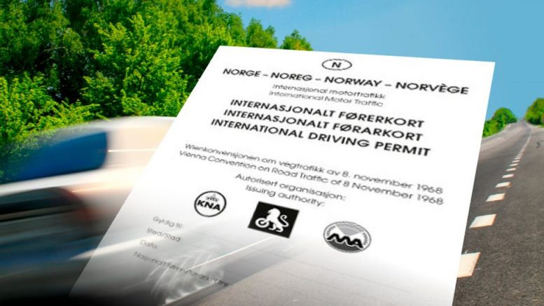 Norwegian International Driver's licence