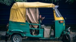 India, energy natural gas rickshaw