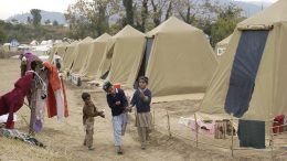 Children tent camp interned Pakistan