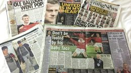 Ole Gunnar Solskjær in English newspapers