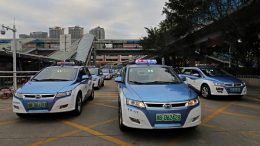 electric-powered taxis