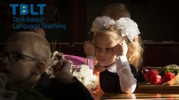 Girl learning school tblt