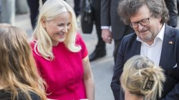 "Crown Princess Mette-Marit is present at the opening of ""The German-Norwegian Literature Festival."