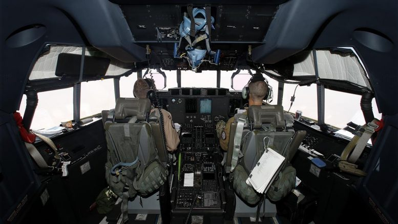 UNISMA Armed Forces Airforce Hercules cockpit