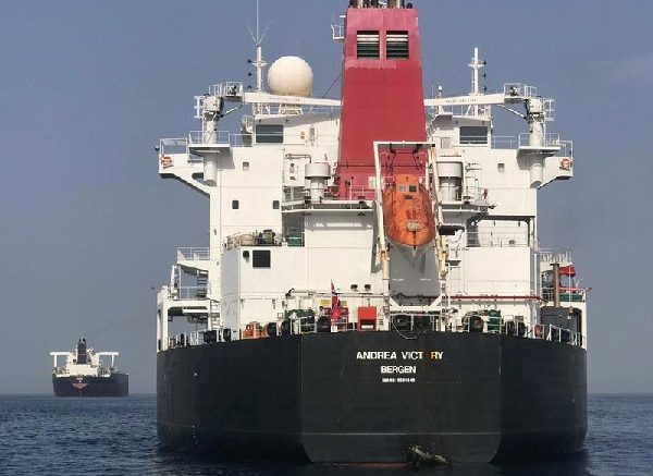 The oil tanker Andrea Victory