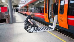 Vy NSB train wheelchair