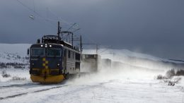Dovre Rail CargoNet Winter railroad train