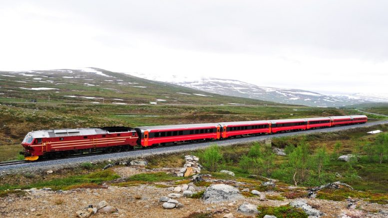 Northern Norway Railway Train Railroad