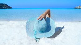 beach the sun hat ocean seaside
