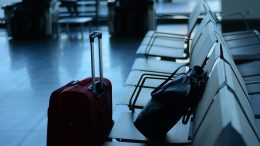 Suitcase luggage Bodø Airport