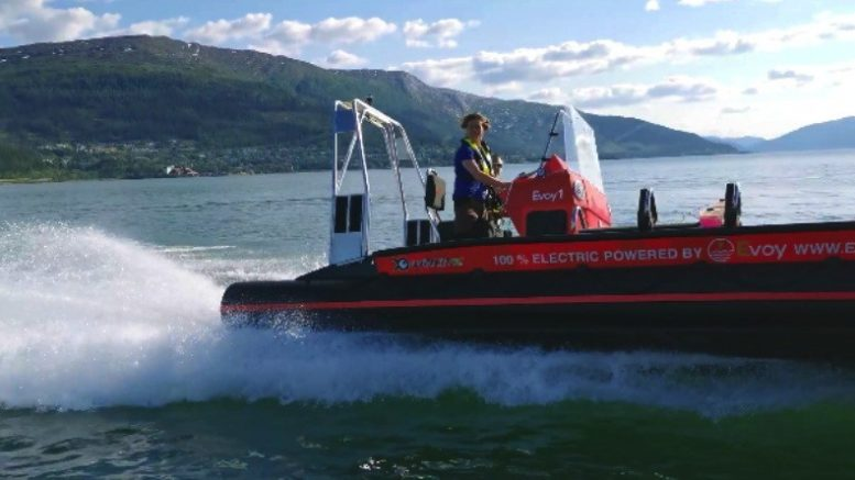 Evoy Rib Electric boat