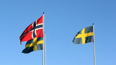 Norwegian and Swedish flag