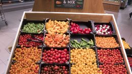 Fruits and vegetables at Coop
