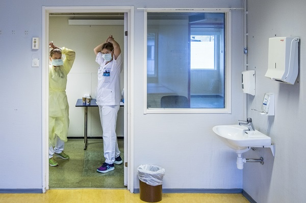 Corona testing of staff at Ullevål Hospital
