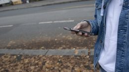 Youth with mobile phone
