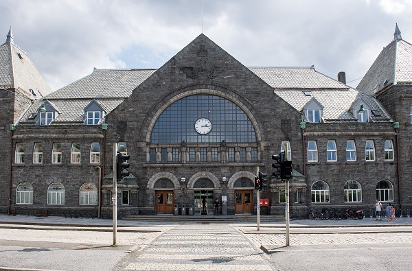 The railway station in Bergen.