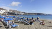 Tenerife, Spain. The beach of Los Cristianos