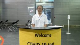 Opening of a new test center for coronavirus at Oslo Airport Gardermoen